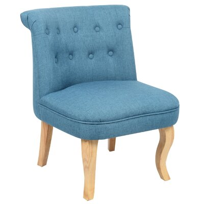 June Slipper Chair Upholstery: Cerulean Blue