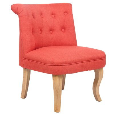June Slipper Chair Color: Coral Red