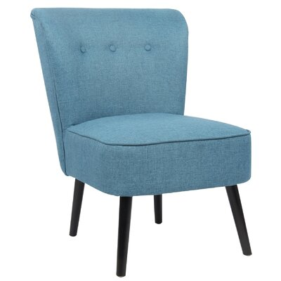 Teresa Slipper Chair Upholstery: Ocean Blue