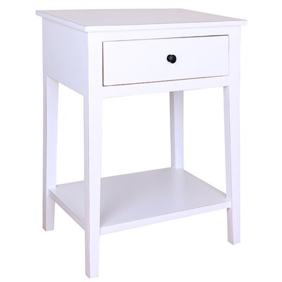 Shelby 1 Drawer Nightstand Color: White