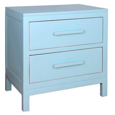 Gwen 2 Drawer Nightstand Color: Aqua