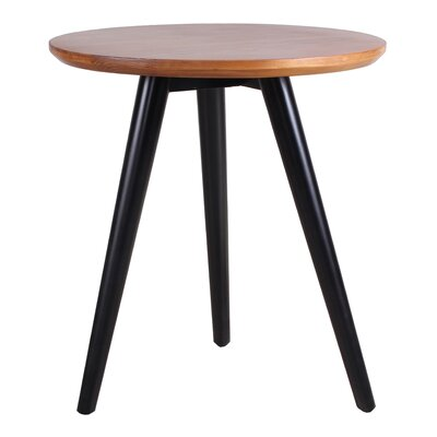 Ina End Table Color: Black