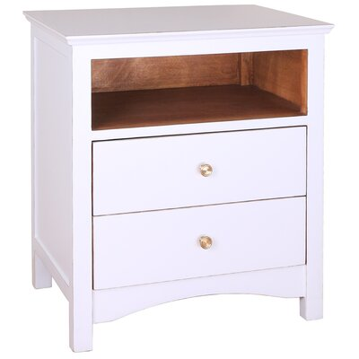 Giselle 2 Drawer Nightstand Color: White