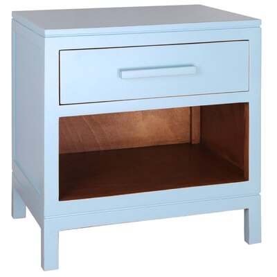 Cecelia 1 Drawer Nightstand Color: Aqua