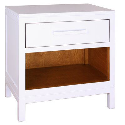 Cecelia 1 Drawer Nightstand Color: White