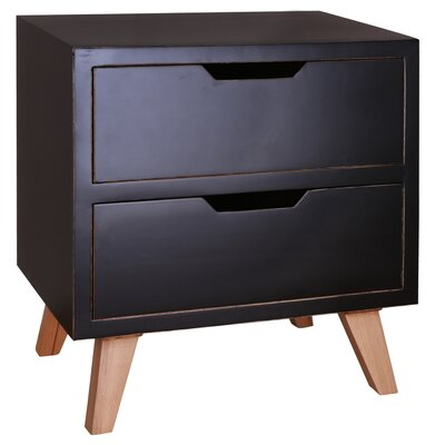 Harper End Table Color: Black