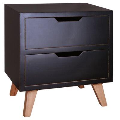Harper End Table Color: Black