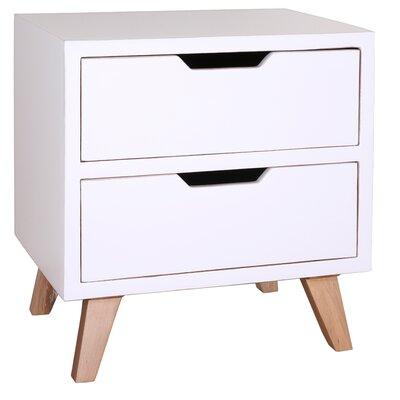 Harper End Table Color: White