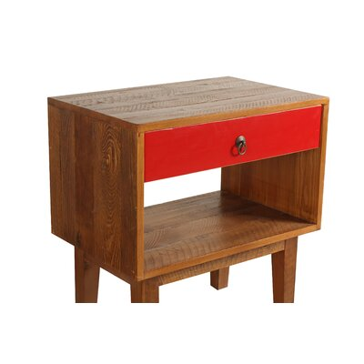 Shiloh End Table Color: Red
