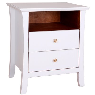 Cosette 2 Drawer End Table Color: White