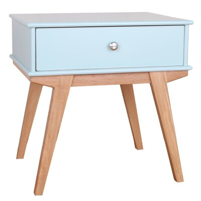 Lucille End Table Color: Aqua