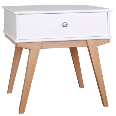 Lucille End Table Color: White