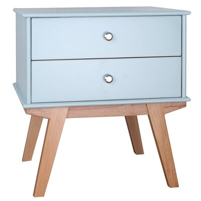 Vanessa End Table Color: Aqua