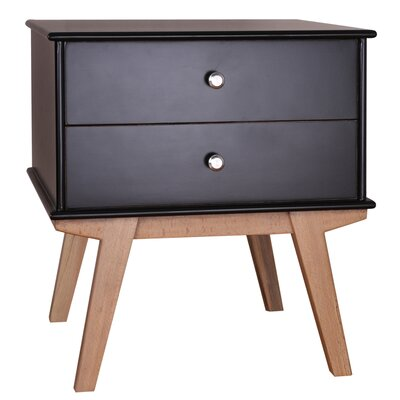 Vanessa End Table Color: Black
