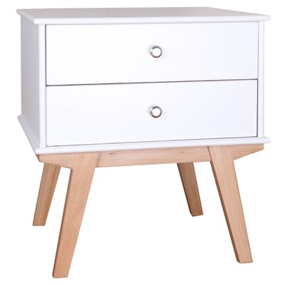 Vanessa End Table Finish: White