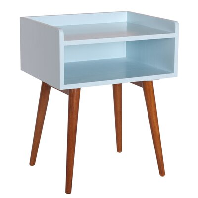 Meridian End Table Color: Aqua