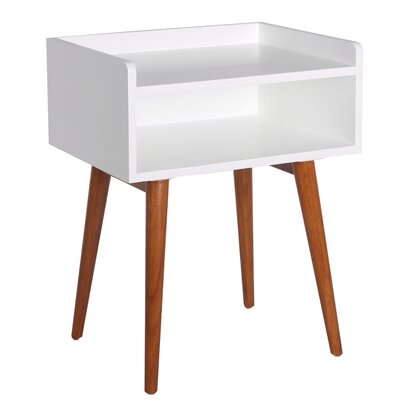 Meridian End Table Color: White