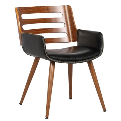 Olivia Side Chair Upholstery: Black