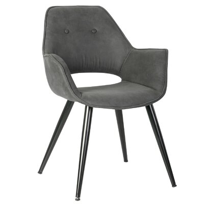 Jasmine Arm Chair Upholstery: Black