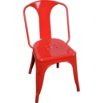 Joey Side Chair Finish: Red