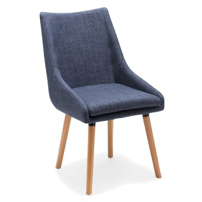 Seymour Upholstered Dining Chair Upholstery Color: Blue