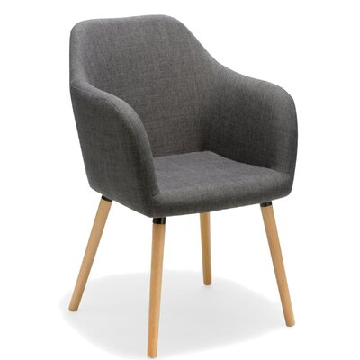 Estate Arm Chair Upholstery: Gray