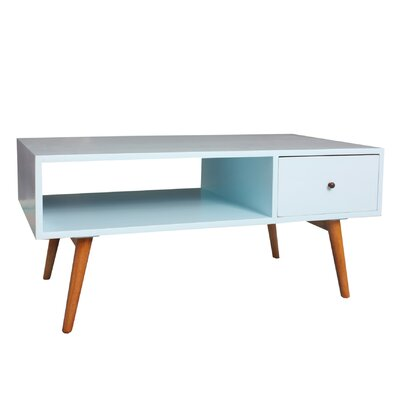 Bowie Coffee Table Color: Aqua