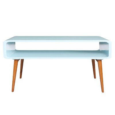 Lux Coffee Table Color: Aqua