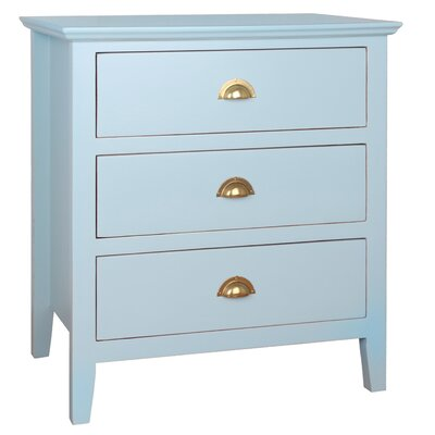 Brianna End Table With Storage� Color: Aqua