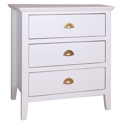 Brianna End Table Color: White