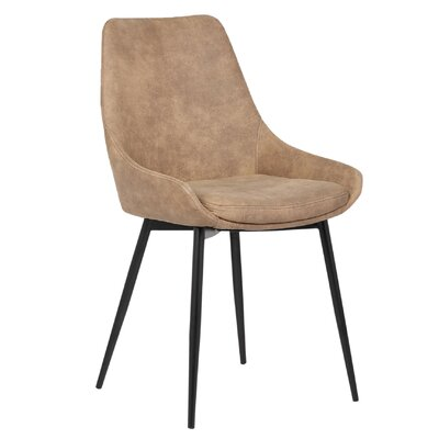 Rita Side Chair Upholstery Color: Brown