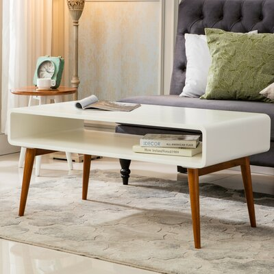 Lux Coffee Table Color: White