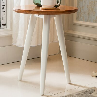 Ina End Table Finish: White