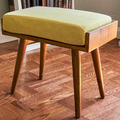 Emily Upholstered Vanity Stool Upholstery Color: Yellow