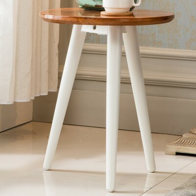 Emma End Table Color: White