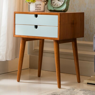 Ravel End Table Color: Aqua