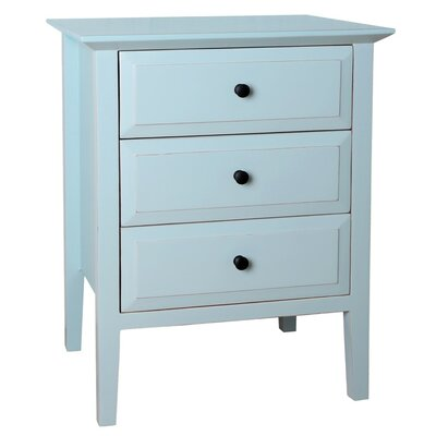 Gardenia 3 Drawer Nightstand Color: Aqua