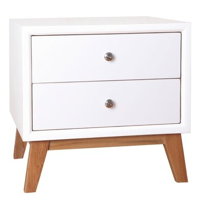 Eden 2 Drawer Nightstand Color: White