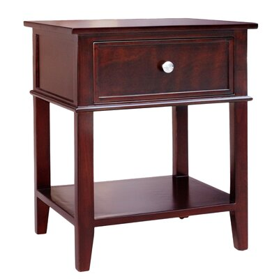 Gina End Table Finish: Brown