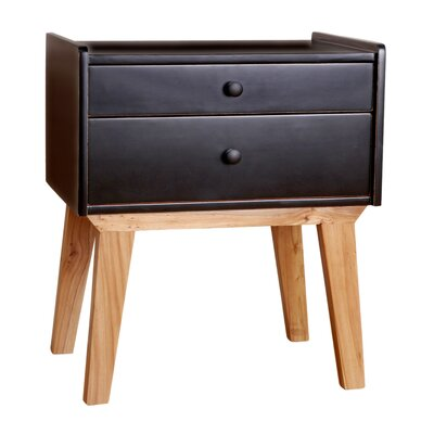 Kathryn End Table Color: Black