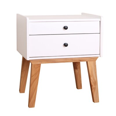 Kathryn End Table Color: White