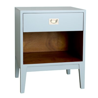 Rhoda Lacquer Nightstand Color: Aqua