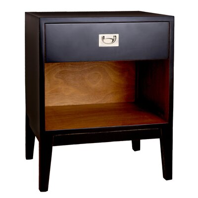 Rhoda Lacquer Nightstand Color: Black