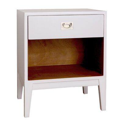 Petra Lacquer Nightstand Color: Off-White
