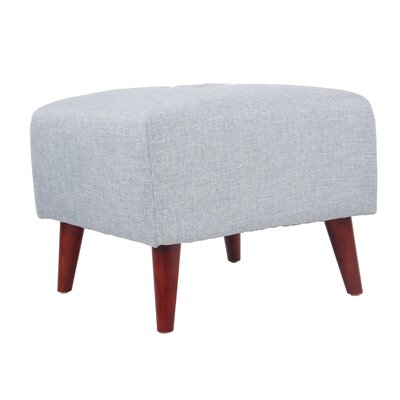 Daisy Ottoman Upholstery: Sky Blue