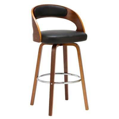 Charlotte 27.76 Swivel Bar Stool Finish: Black