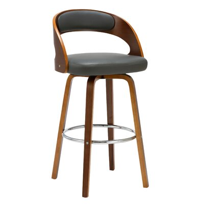 Charlotte 27.76 Swivel Bar Stool Finish: Gray
