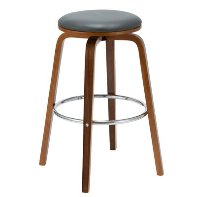Williams 26.77 Swivel Bar Stool  Color: Gray