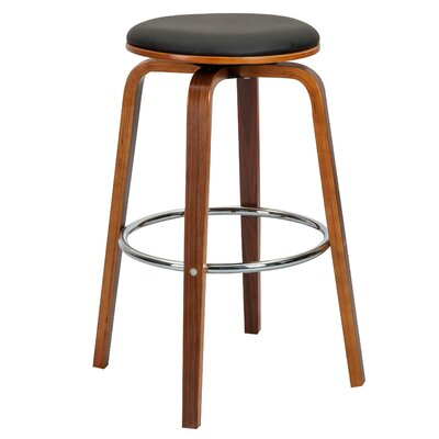 Williams 26.77 Swivel Bar Stool  Color: Black