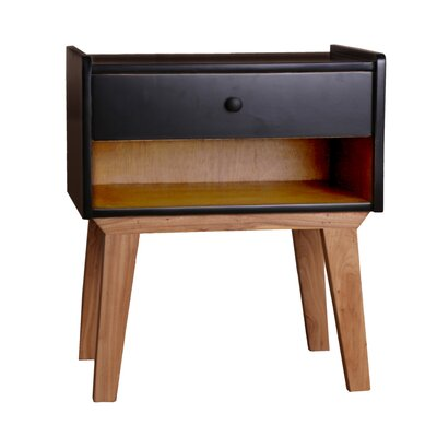 Charlie End Table Color: Black